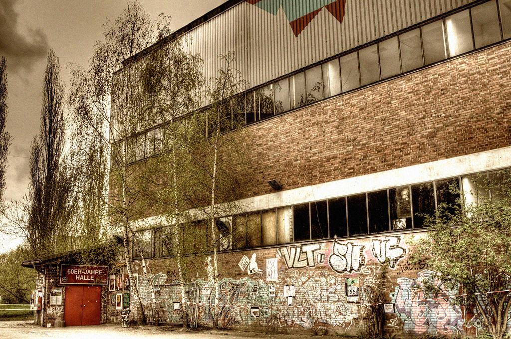 60er Jahre Halle auf dem Faust Gelände in Hannover-Linden