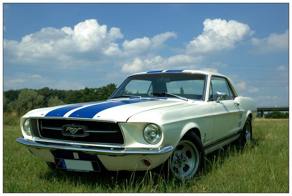 67er Ford Mustang - 289er Engine (vorne)