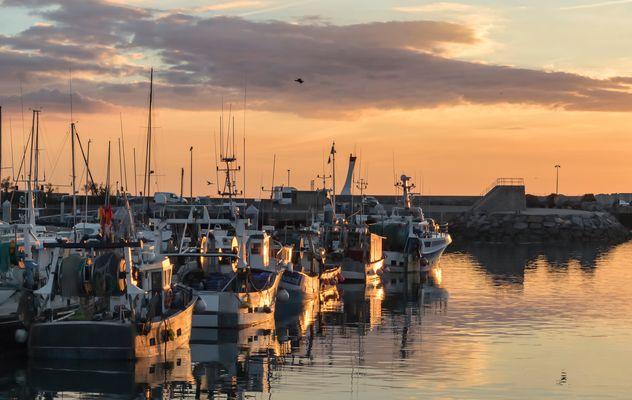 # 7 - Soleil couchat sur le port