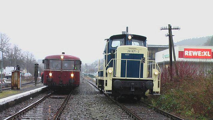 70iger Jahre-Flair auf der Wiehltalbahn am 19.01.2008