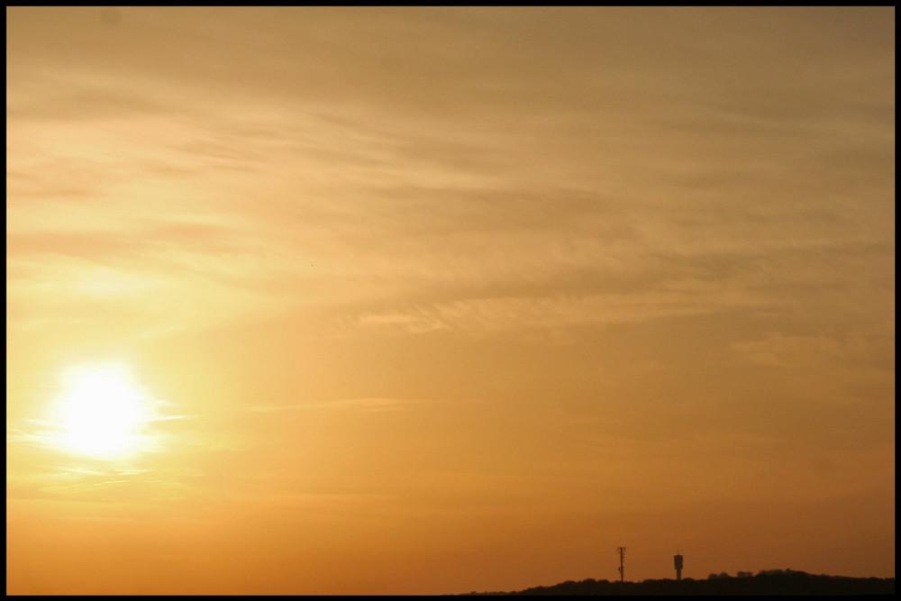 7.25 Uhr auf meinem Balkon