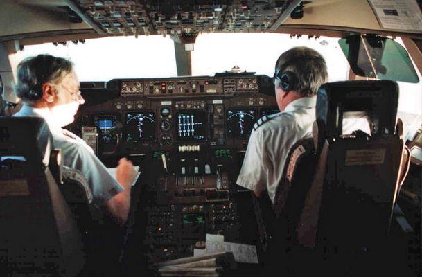 747-400 am Weg nach Neuseeland