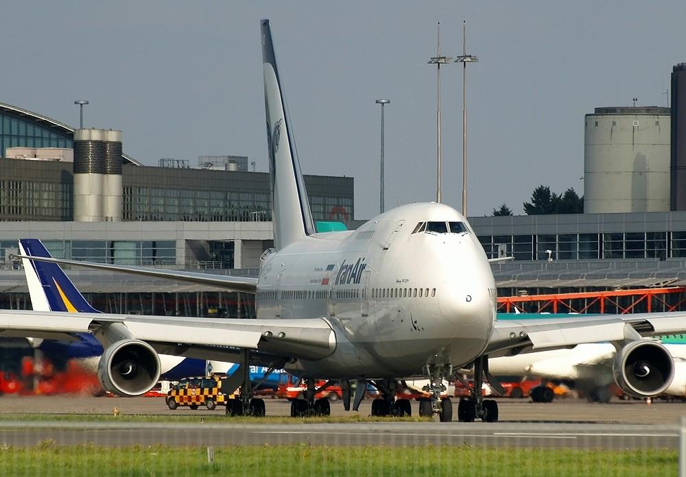 747SP, diesmal mit Sonne