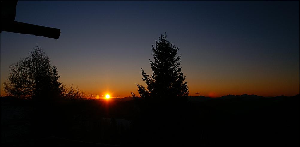 7:50 h Sonnenaufgang am Falkert
