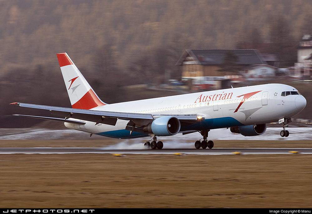 767-300ER landet seit 2005 wider in Innsbruck !!