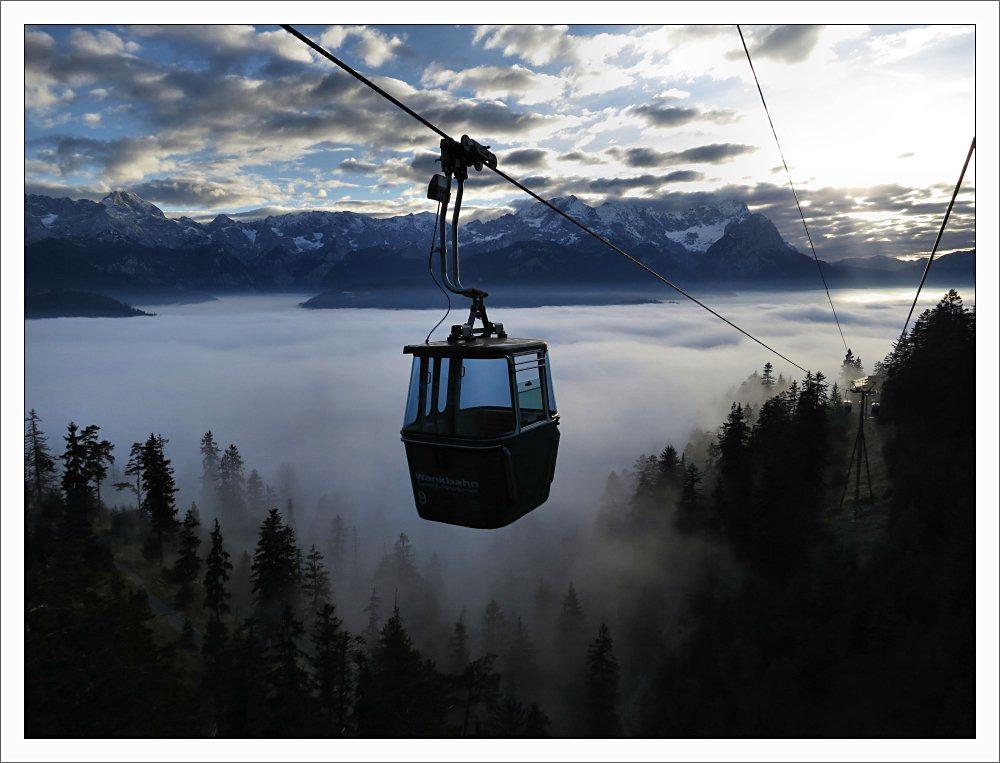 7.Urlaubstag: Über den Wolken...