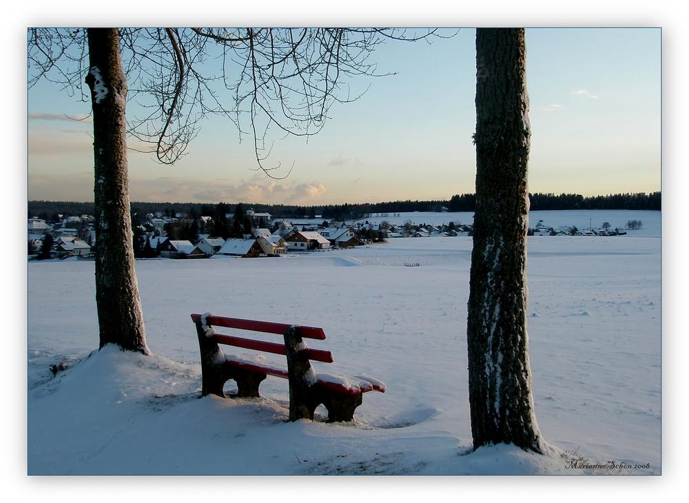 ...8° minus...zu kalt zum hinsitzen...