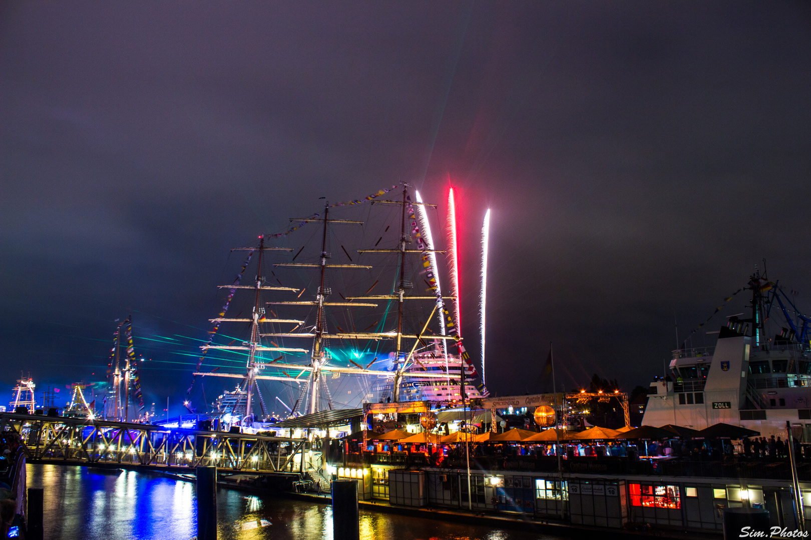 825. Hafengeburtstag Hamburg (AIDA Stella - AIDA Sol) (Feuerwerk)