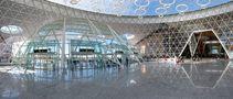 4074SB-4077S Flughafen Marrakesch Panorama Innen by rolffischer