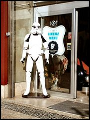 9€ = meal and cine,  in Lisboa.