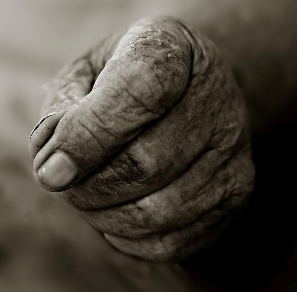 90 jahre alte hand