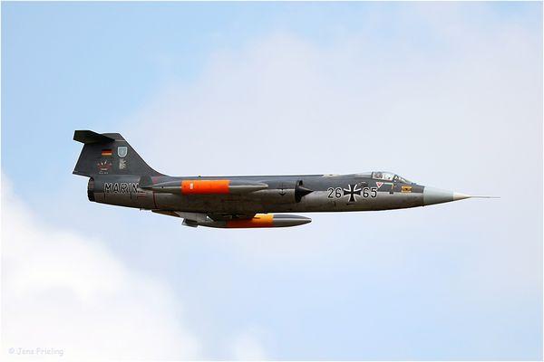 90 Sekunden vor der Zerstörung Starfighter F-104