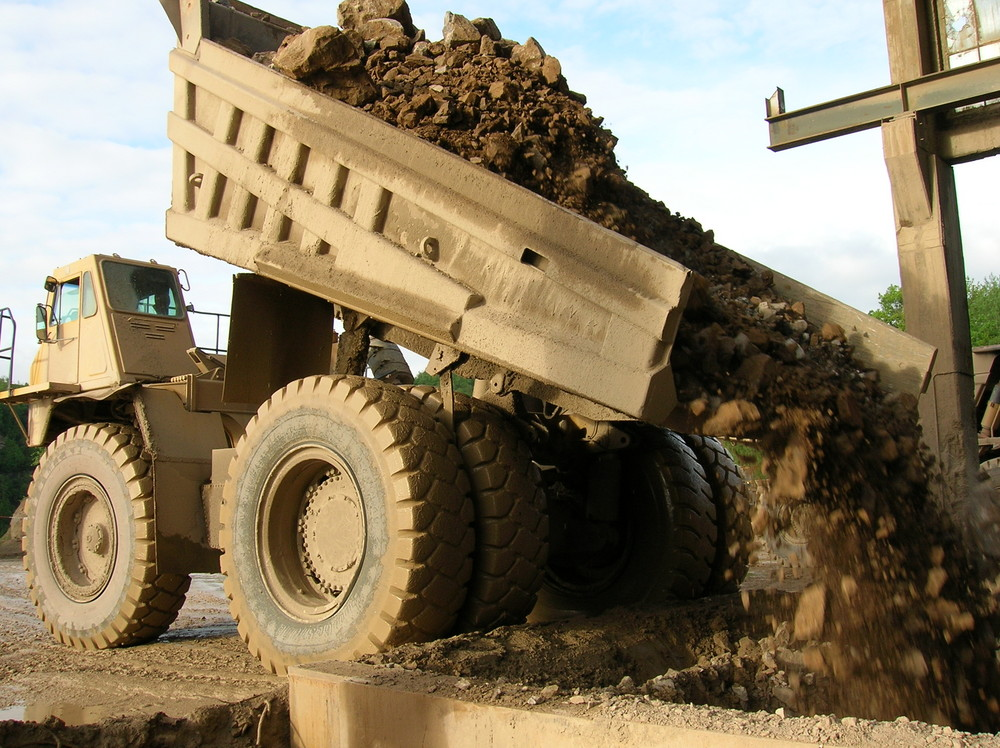 90 Tonnen Dolomitgestein