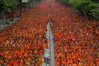 9000 monks - a few of them not in the picture / 9000 Mönche - ein paar davon nicht im Bild