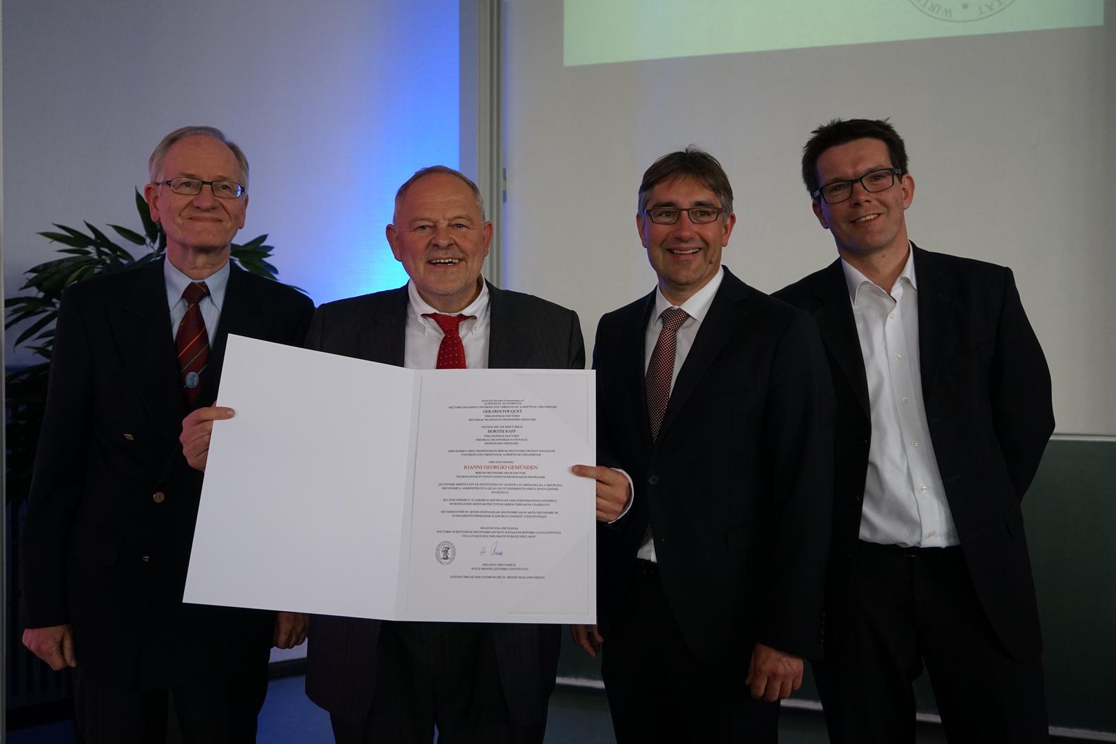 9.5.2014 Uni Kiel - meine Alma Mater - Verleihung des Ehrendoktors Dr. rer. oec. et soc. h.c.