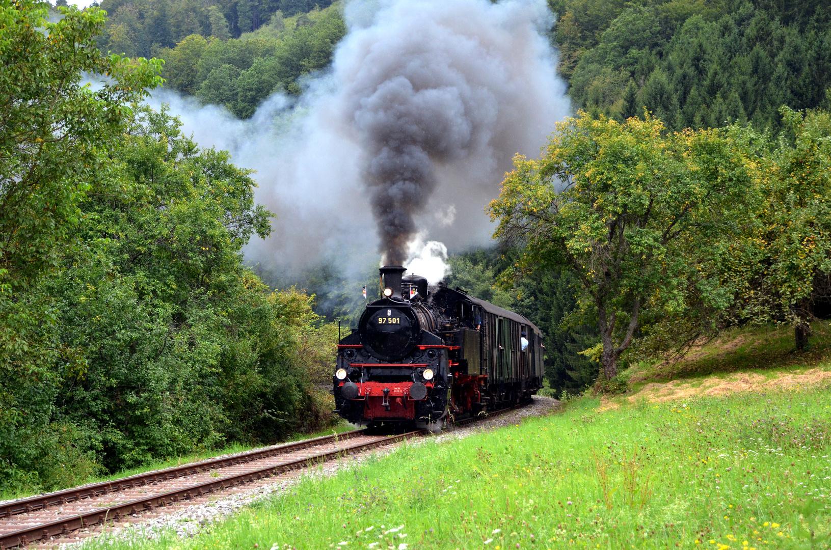 97 501 auf dem Weg nach Welzheim II