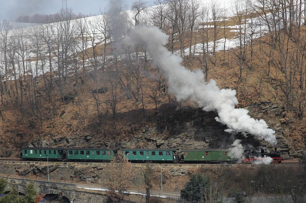 99 1608 mit Reichsbahnzug