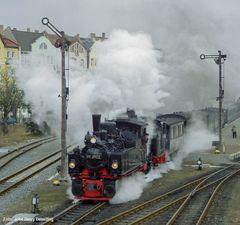 99 5902 und 99 6101 in Nordhausen, Februar 2003