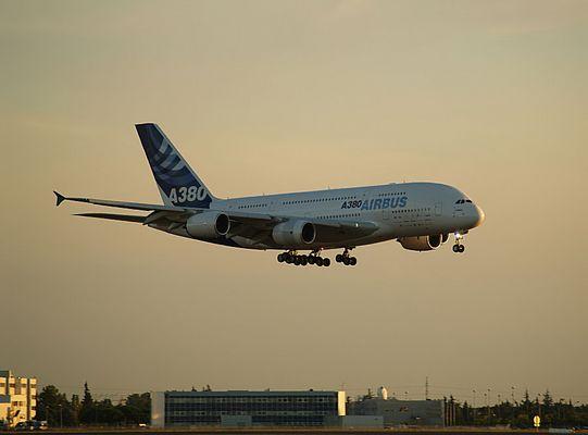 A 380 Landeanflug