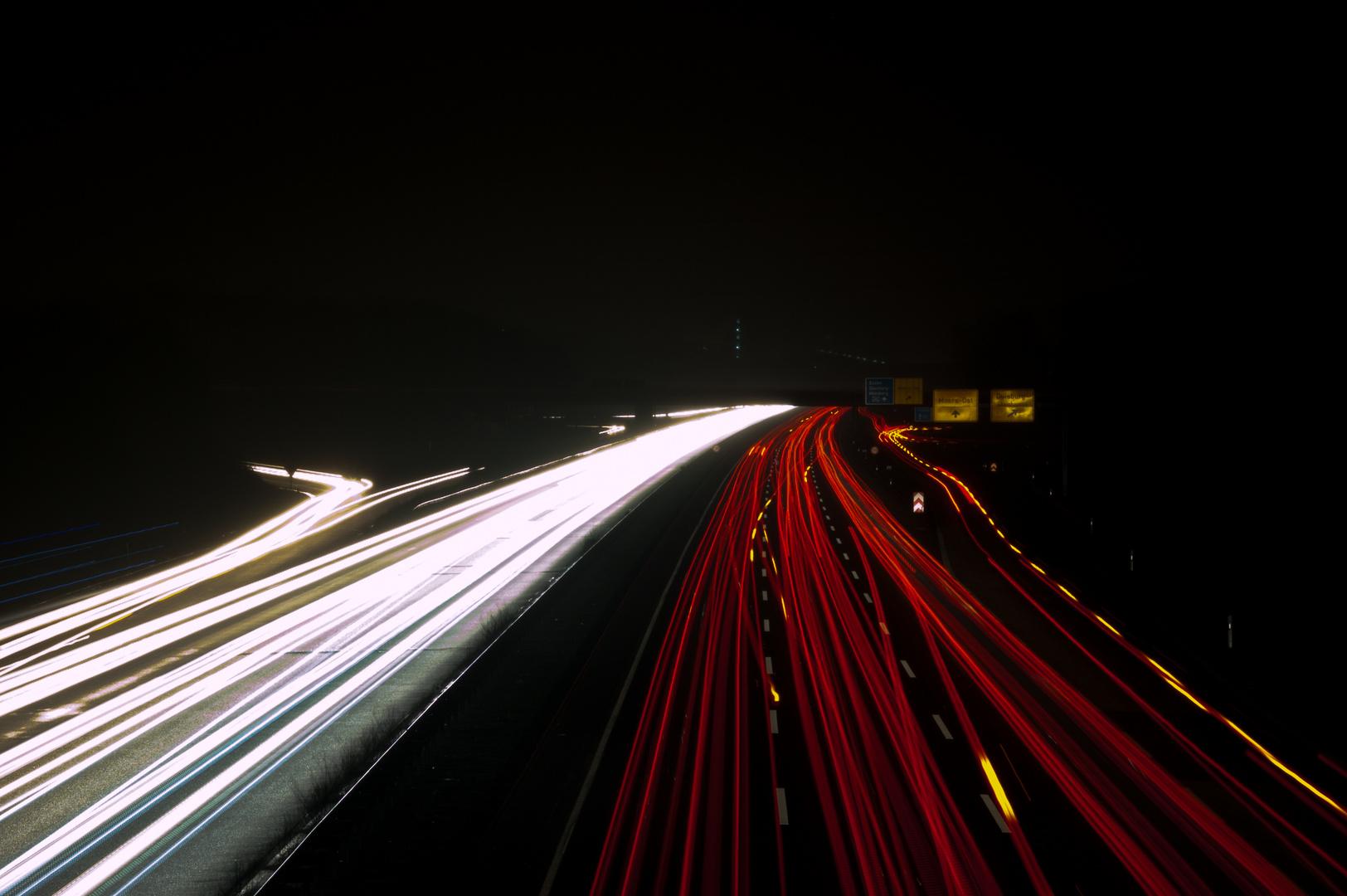 A 40 bei Nacht (2)