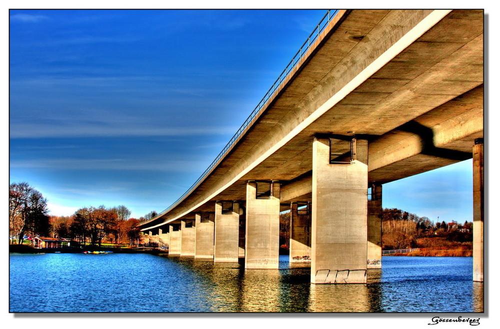 A 46 Brücke über den Seilersee bei Iserlohn