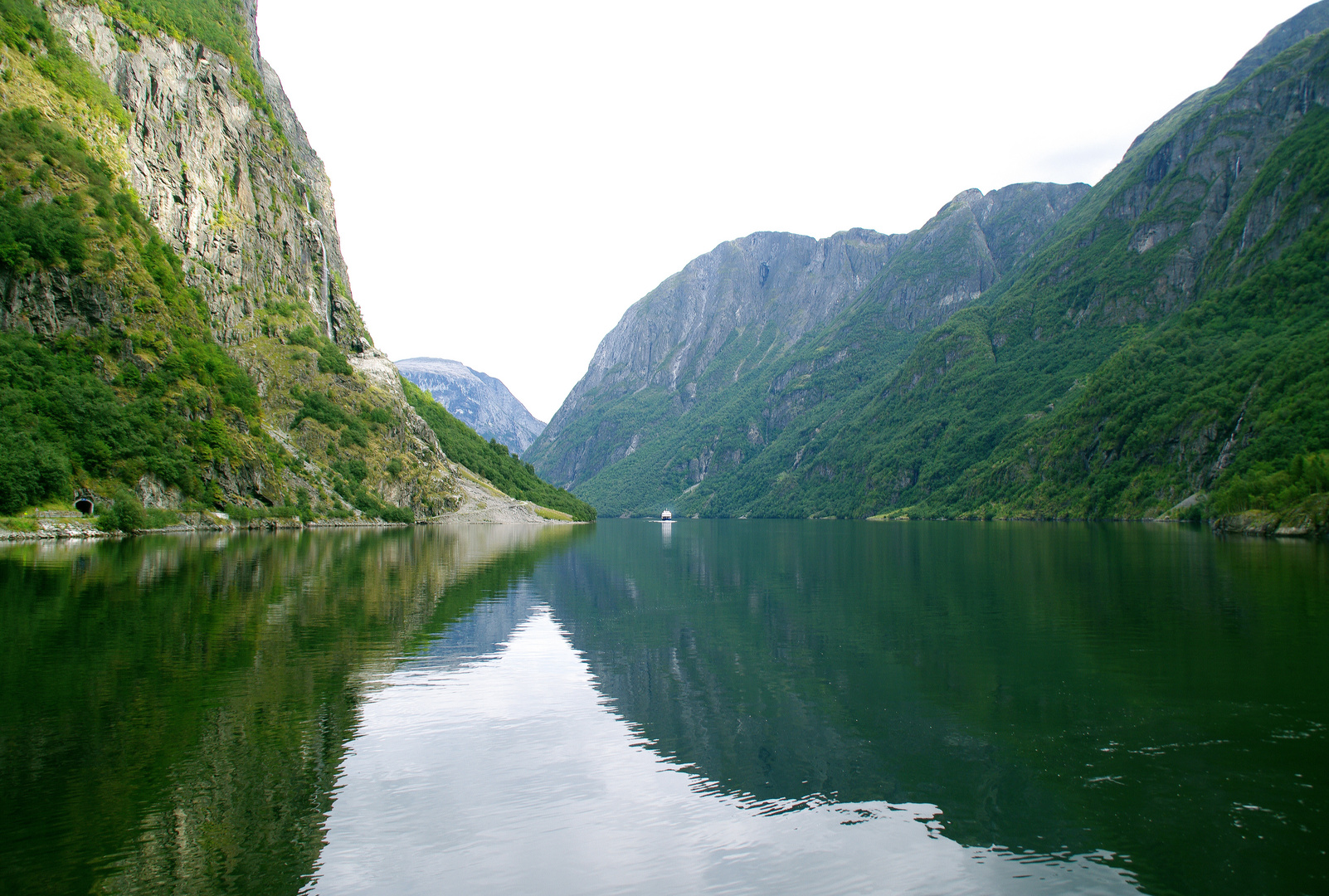 A Boat In The Fjord.