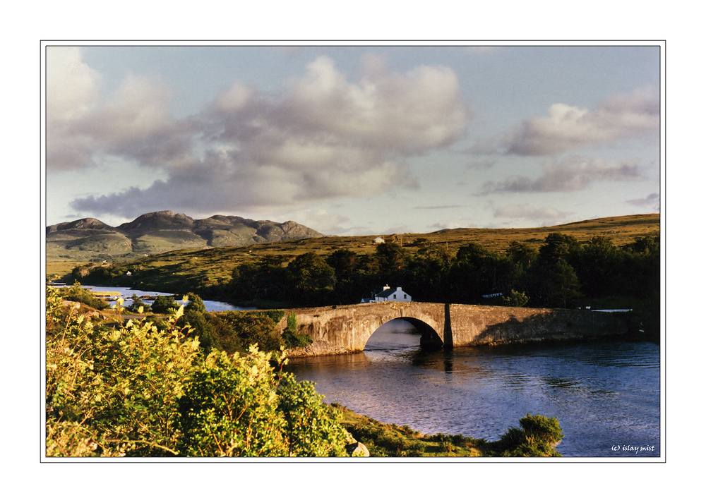 a bridge in the evening light...