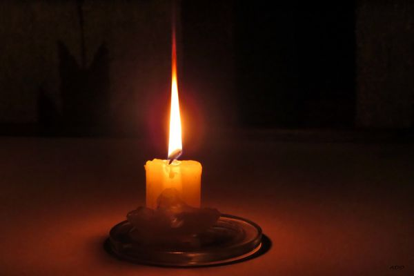 A Candle Burning Brightly