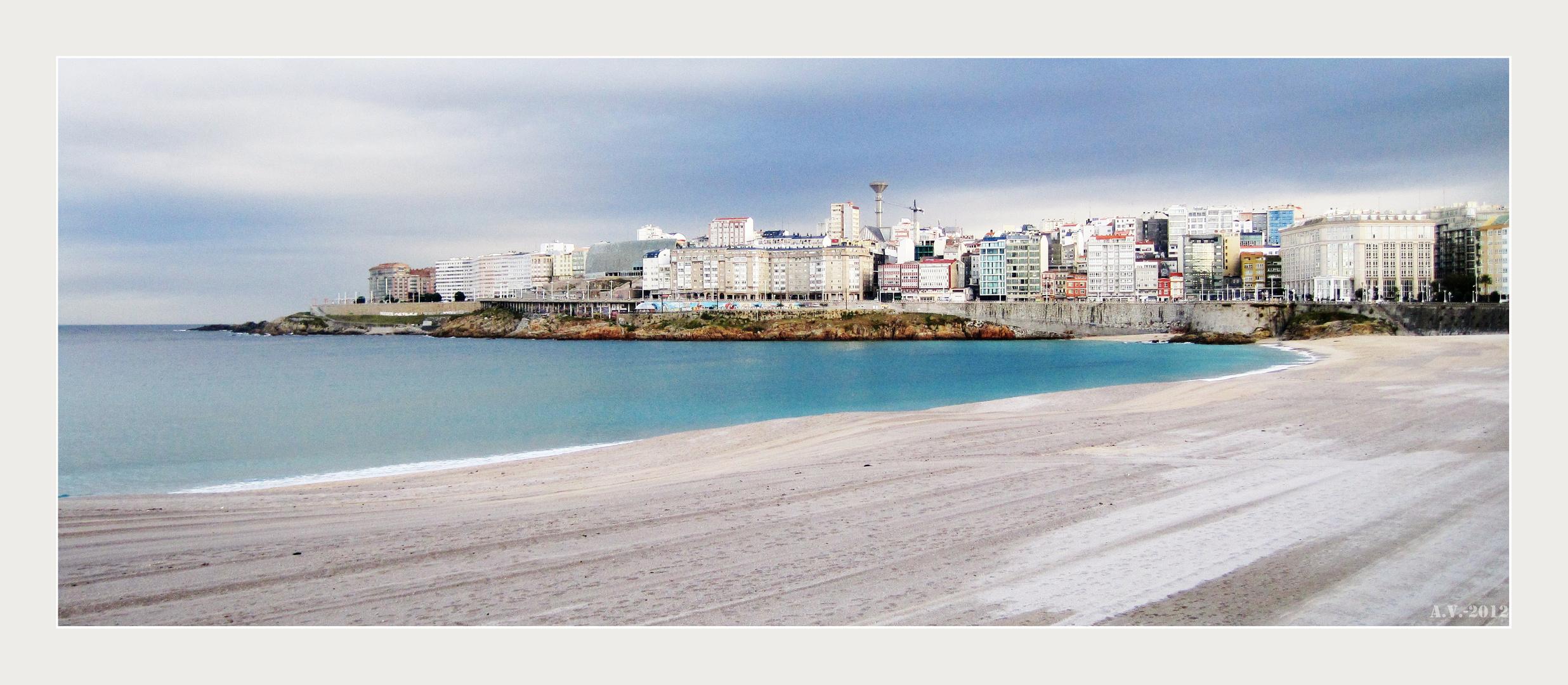 A caron do mar 1. Praia de Orzan (A Coruña) Al lado del mar