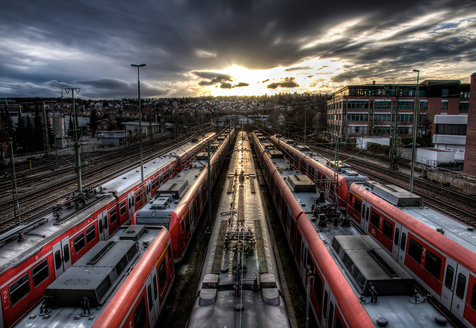 A commuter train's weekend