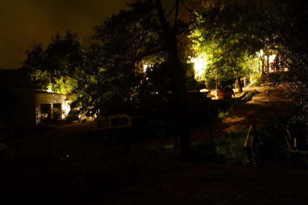 A Farm at Night