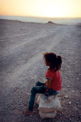 A Girl From The Beduin Tribe Of Rashajda