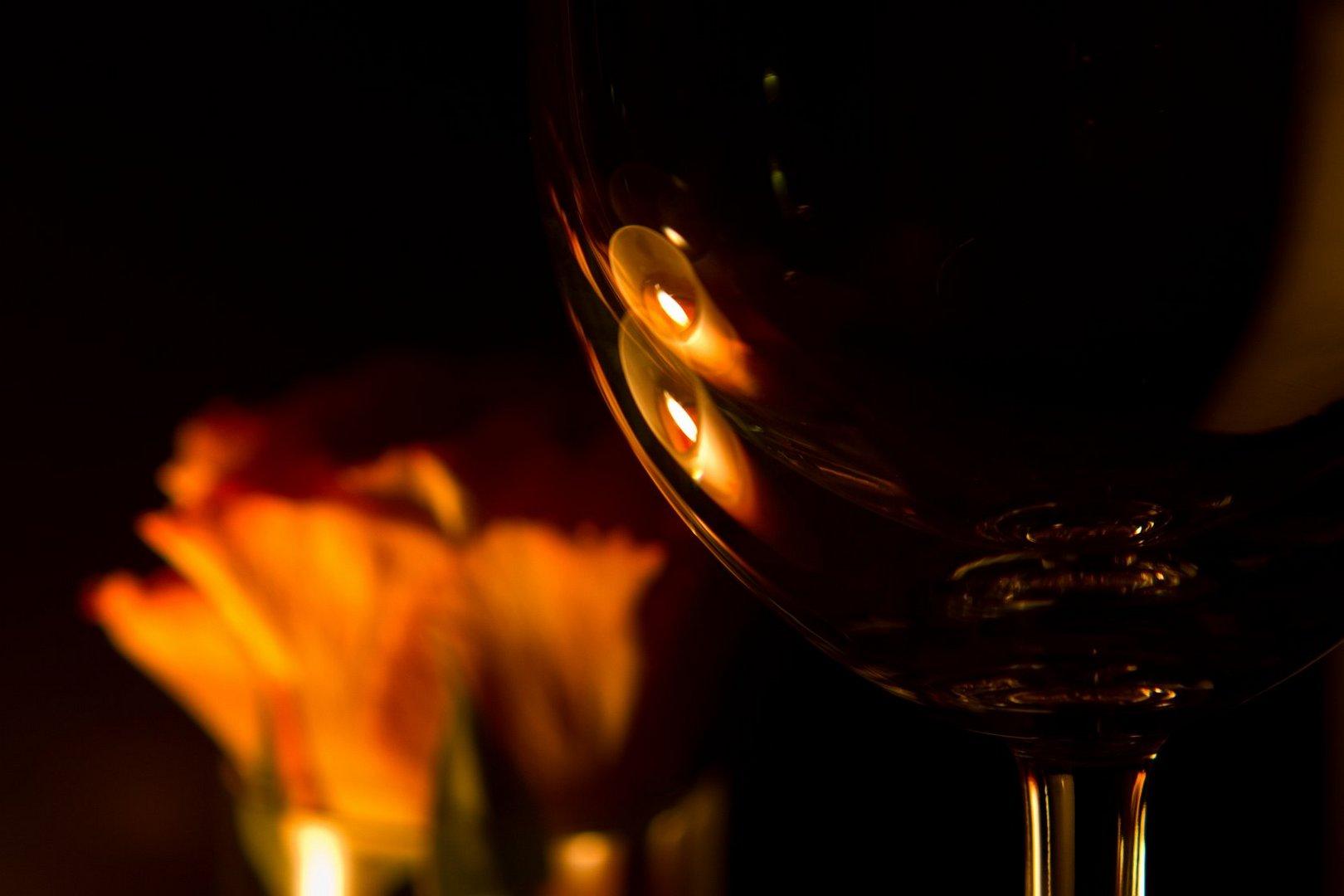 A good glas of wine - it's mine