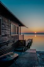 A gorgeous winter day comes to an end - Sunset on Lake Ammersee last night