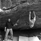 A guada Spotter is des wichtigste. Dani spottet Jürgen klettert irgenwo in der Schweiz
