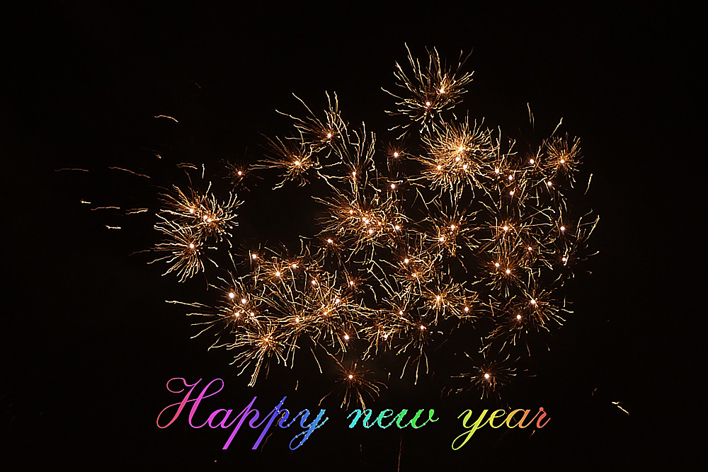 A happy new year...