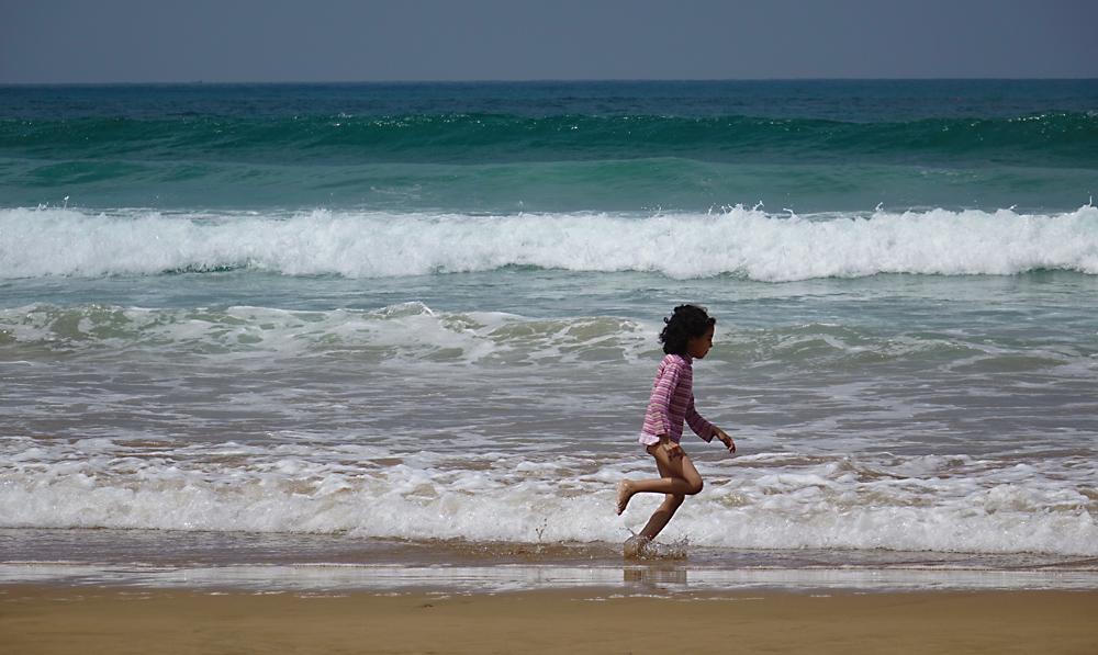 à la plage d'agadir