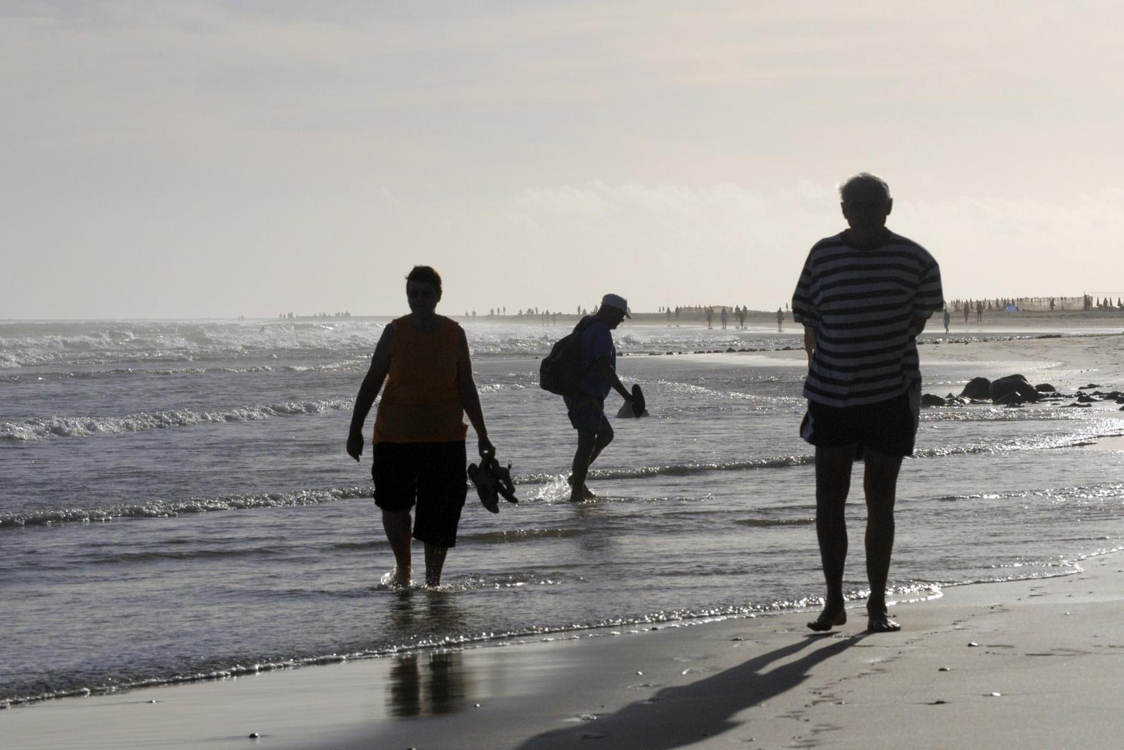 a la playa.