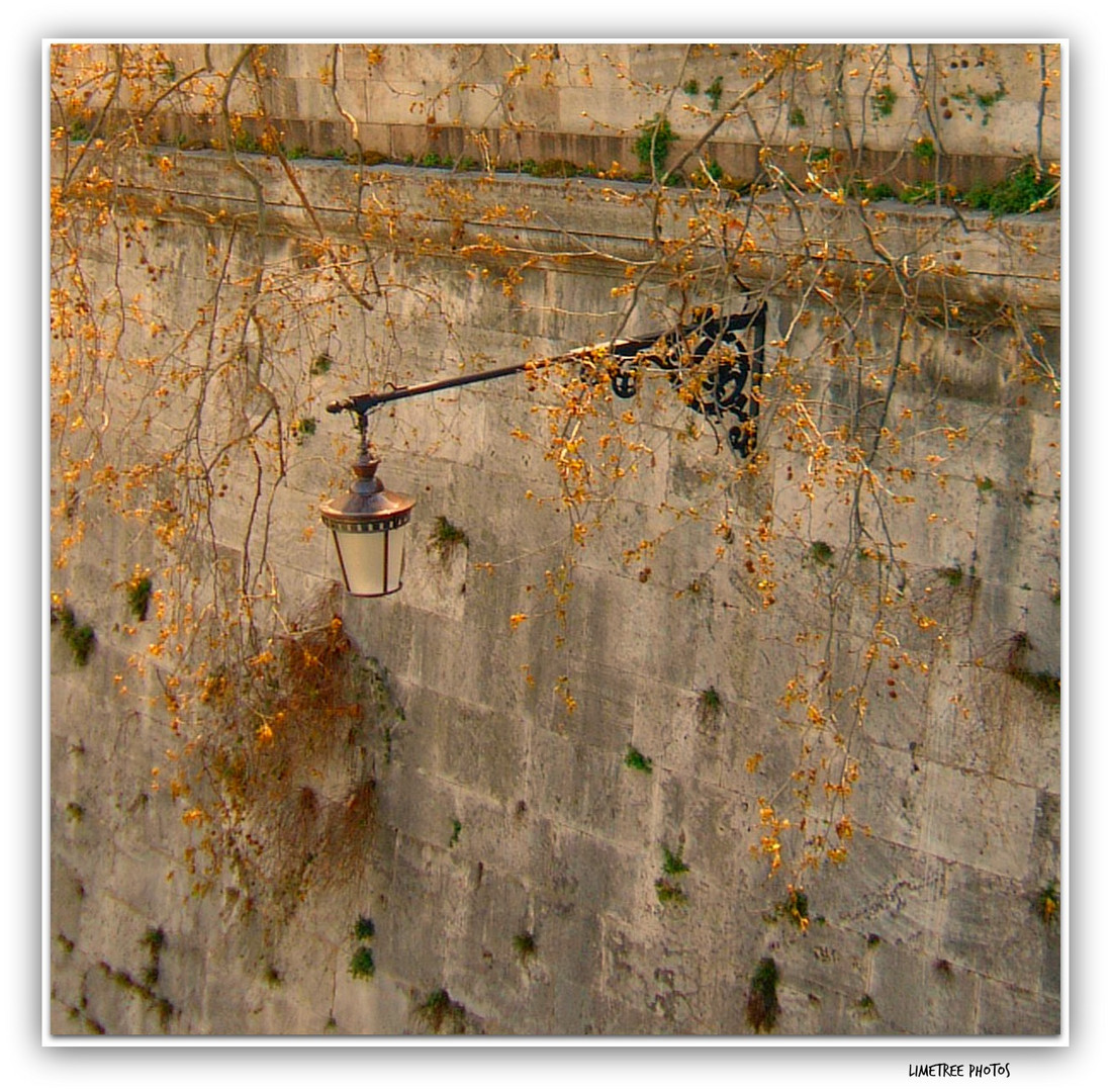 A Lamp at the Walls of Fiume Tevere