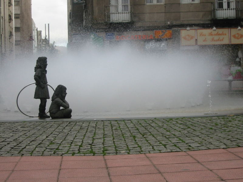 A lovely fountain in Pontevedra, Galicia Spain