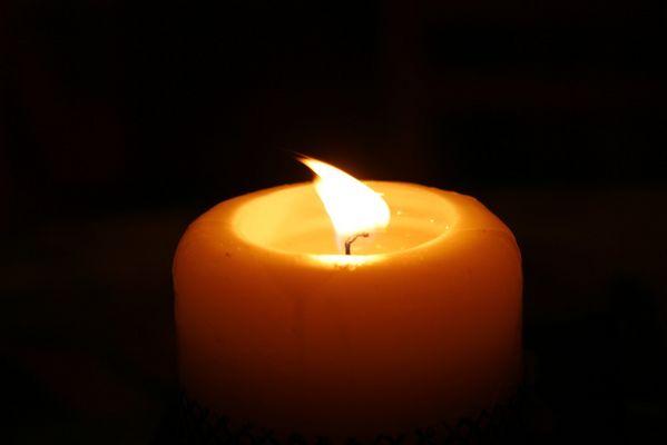 A lume di candela !