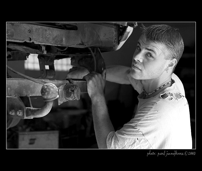 """A Mechanic II. (from cycle """"People at work"""")"""
