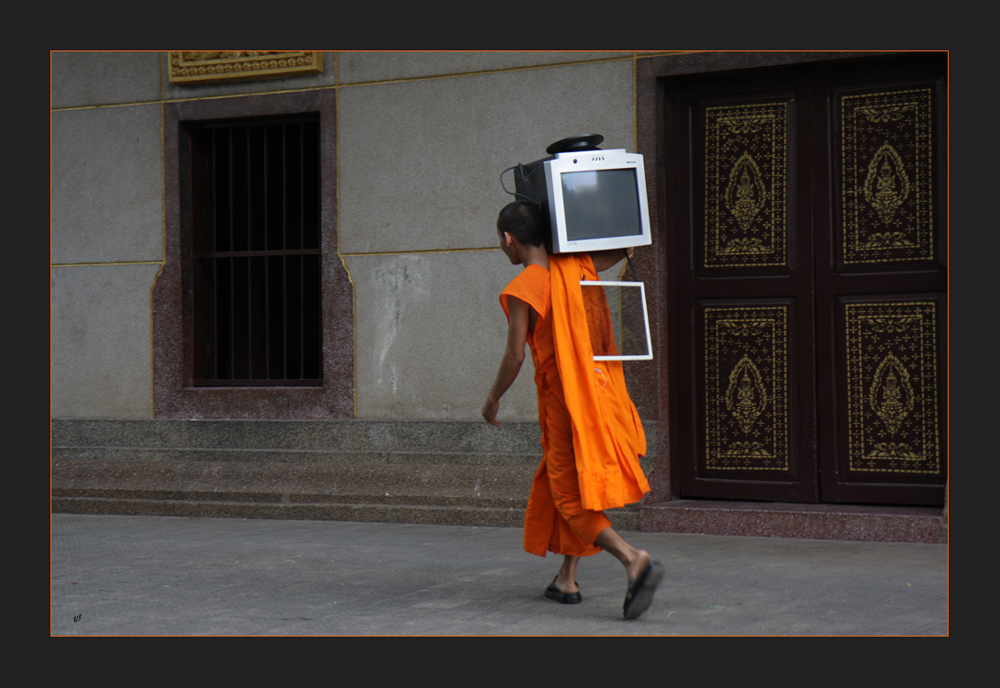 a monk and a computer