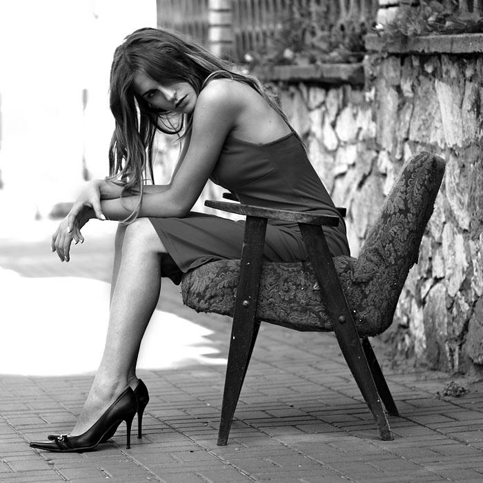 a old armchair