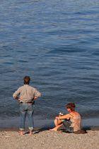 a piedi nudi... nel lago!