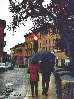 A raining day in the love town of Romeo and Juliet