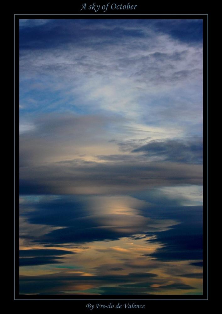 A sky of october