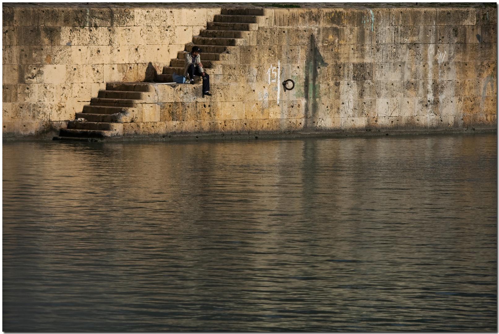 A solas con la caña, a la orillita del Guadalquivir