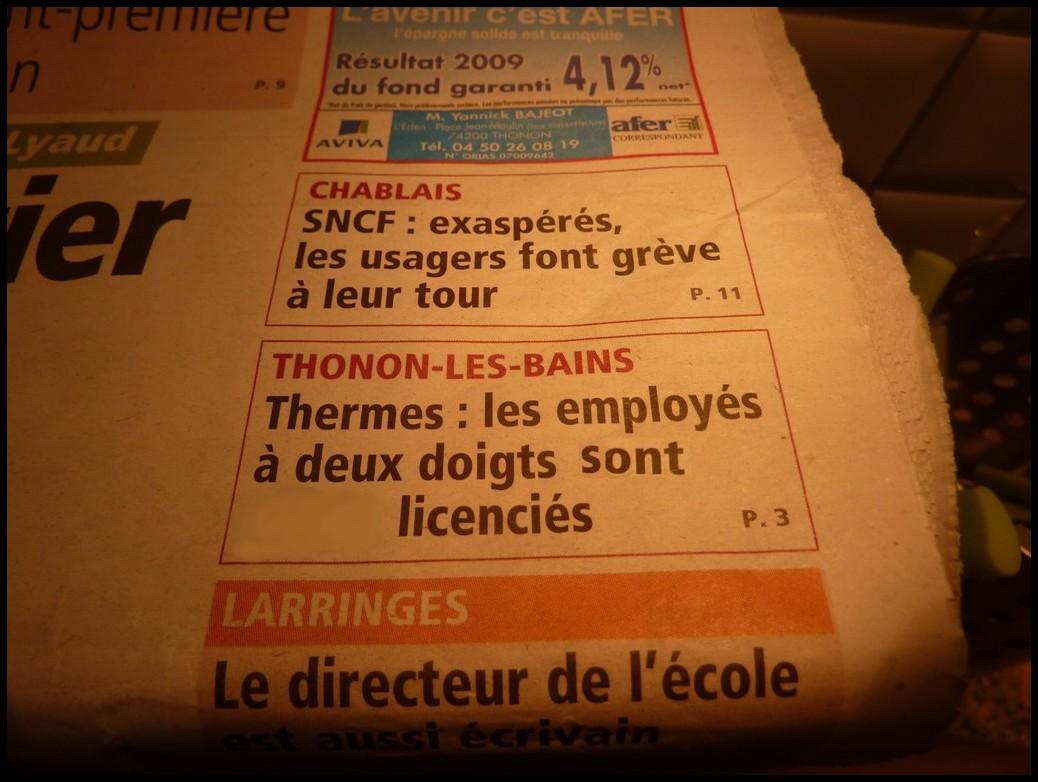 """à Thonon les bains: il vaut mieux être """"ENTIER"""""""