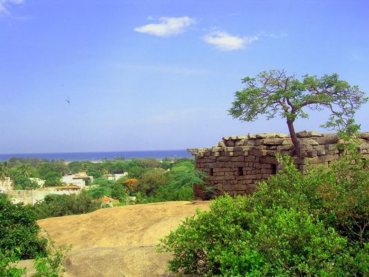 A traditional Greek Building in Mamallapuram?